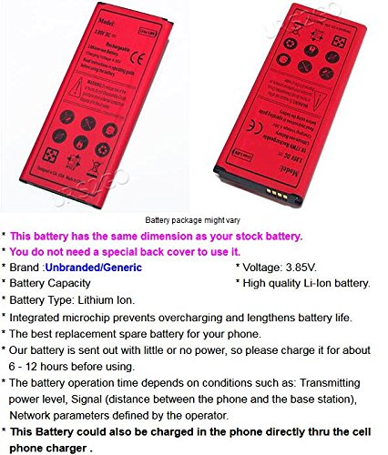 100% New 4900mAh Excellent Rechargeable Standard Battery for Samsung Galaxy Note 4 SM-N910R4 U.S. Cellular Android phone