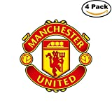 Manchester United FC Vinyl Decal Logo EPL English Football Soccer 4 Stickers