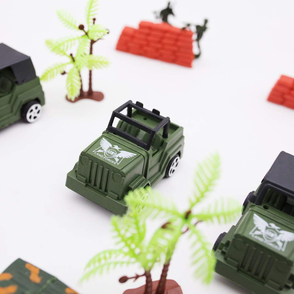 3 otters Military Base Set, 307PCS Civil War Army Men Action Figures Plastic Army Men Combat Special Forces with Hand Bag Birthday for Party Favor