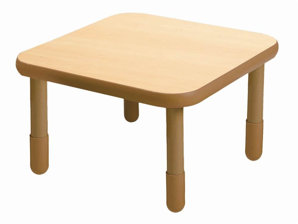 Angeles Square Table in Natural Woodgrain (22 in.)