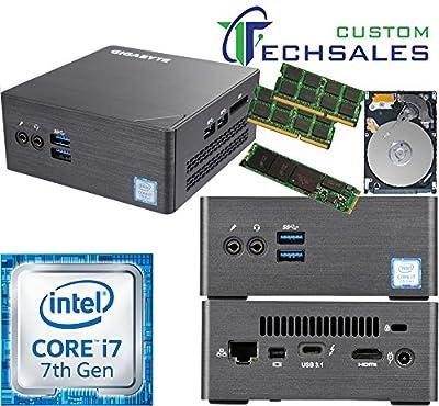 Gigabyte BRIX s Ultra Compact Mini PC 7th Gen GB-BKi7HT-7500 i7 500GB SSD 2TB HDD 8GB RAM Assembled and Tested