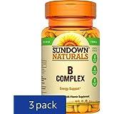Sundown Naturals Vitamin B Complex, 100 Tablets each (Pack of 3)