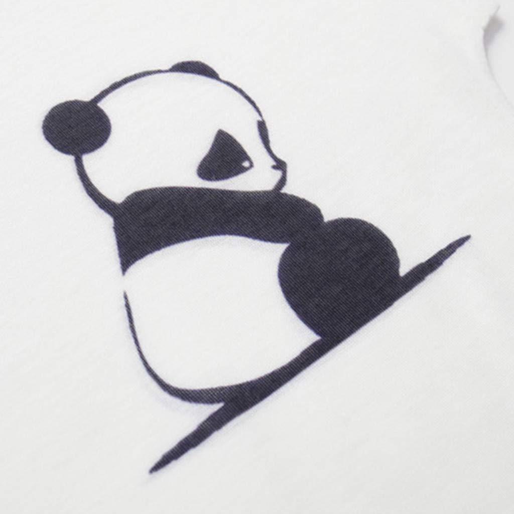 JFLYOU Women's Fashion Geometric Cute Pet Animal Print O-Neck Short Sleeve Loose T-Shirt Blouse(Multi#S,M) by JFLYOU-Blouse (Image #3)