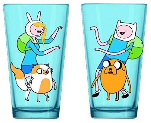 Adventure Time Finn & Fiona Pint Glass (Finn Glass)