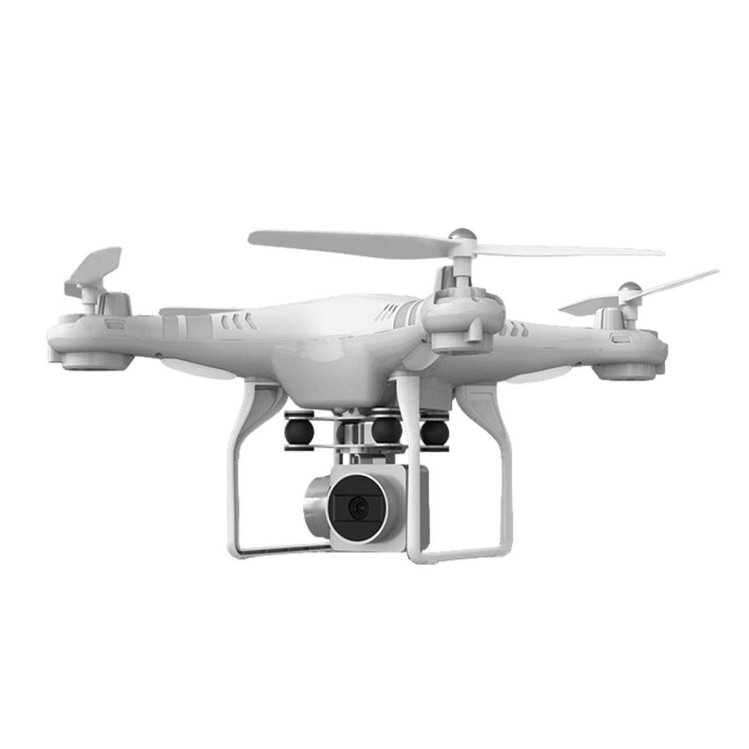 E-SCENERY WiFi FPV Remote Control 2.4G 6-Axis Gyro 4CH 360 Degree Flip Drone RC Quadcopter With 2MP HD Wifi Wide Angle Lens Camera and LED Night Light, Rechargeable Battery (White)