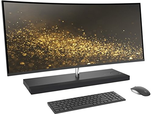 "Latest 2017 HP ENVY 34 CURVED All-In-One Desktop (Intel Core i7-7700T Quad Core Processor, 34"" WQHD LED (3440x1440) Display, AMD Radeon RX460, Win 10 Pro, 512GB PCIe + 2TB Hard Drive, 32GB DDR4 RAM)"