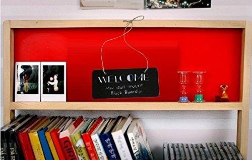 Wooden Erasable Mini Chalkboard Hanging Sign/Message board/Doorplate Set of 4 pcs Model: Office Supply Store