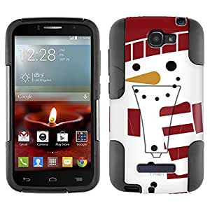 Alcatel One Touch Fierce 2 Hybrid Case Holiday Snowman On White 2 Piece Style Silicone Case Cover with Stand for Alcatel One Touch Fierce 2