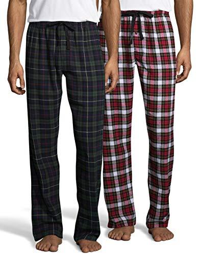 Hanes Mens Flannel Pant 2-Pack (02006/2) -Tartan Pac -L