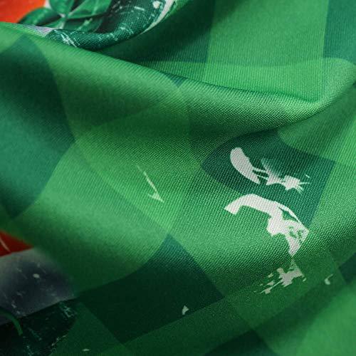 2 Donna Stampa Prom O Party Verde Vestito Cerimonia Anni Dress 50 Lungo Vestiti Collo Swing Elegante Manica Abiti RwgfBqB