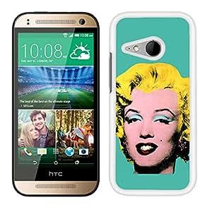 FUNDA CARCASA PARA HTC ONE M8 MINI DISEÑO PINTURA FONDO AZUL