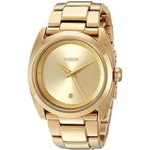 Nixon Women's A935502-00 Queen Pin Analog Display Quartz Gold Watch