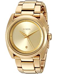 Nixon Women's A935502-00 Queen Pin Analog Display Quartz Gold Watch