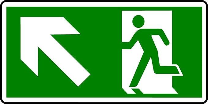 fotoluminiscente-cartel de salida de emergencia-MAN con ...