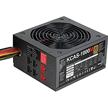 Image of Internal Power Supplies AeroCool KCAS 1000W 80Plus Bronze Noise Reducing Components Black