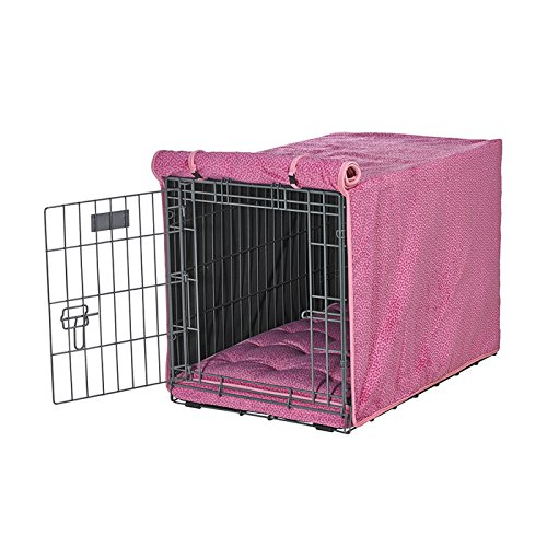 Bowsers Luxury Crate Cover, Medium, Flamingo Bones