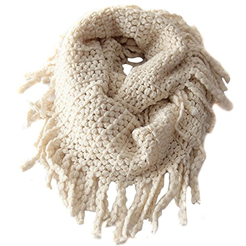 EUBUY Fashionable Autumn Winter Kids Toddler Knit Warmer Tassels Neck Scarf Circle Loop Round Scarves Shawl