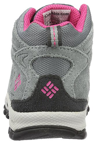 Columbia Childrens North Plains MID Waterproof Hiking Boot Grey Ash/Ultra Pink 11 M US Little Kid by Columbia (Image #2)
