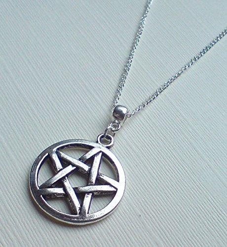 Amazon silver pentagram necklace silver pentacle necklace silver pentagram necklace silver pentacle necklace large pentagram necklace large pentacle necklace aloadofball Images
