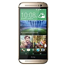 HTC One M8 4MP 16GB Quad-Core KitKat Factory Unlocked World Phone, Import, Gold