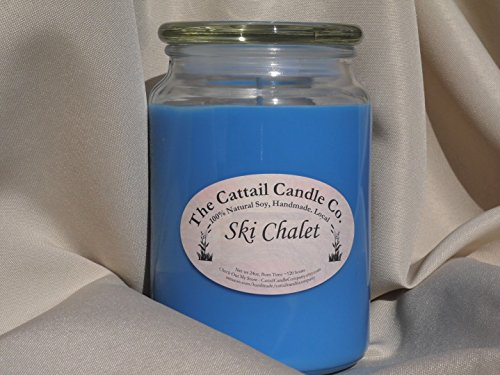 Cattail Candle (Ski Chalet - 100% Soy Candle, 24 fl oz)