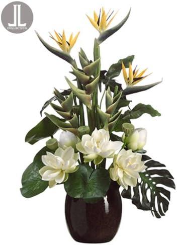 "24/"" Heliconia Bush Silk Floral Flower Arrangements"