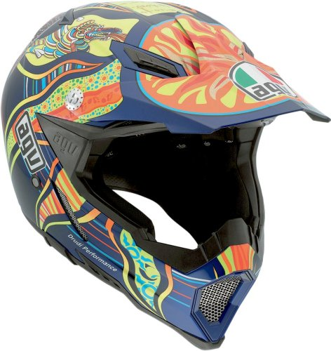 AGV AX-8 Rossi 5-Continents Evo Helmet (Multicolor, Medium)