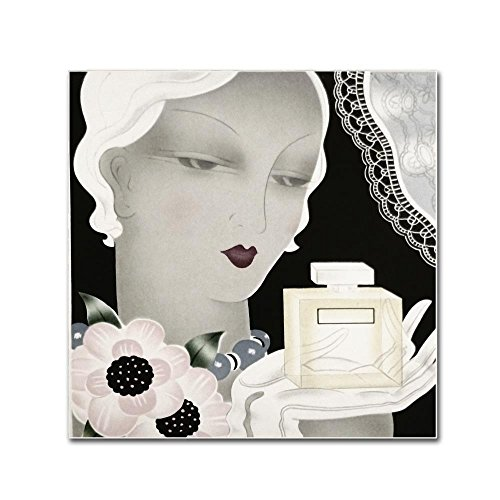 Art Deco Flapper Color by Vintage Apple Collection, 18x18-Inch Canvas Wall Art