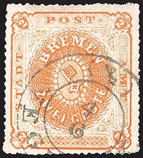 Goldhahn Bremen Nr. 5 gestempelt Briefmarken für Sammler