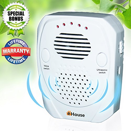 EHOUSE Pest Control Ultrasonic Repeller Electronic Plug in Best Repellent Get Rid Of - Rodents, Mice, Rats, Roaches, Spiders, Bed Bugs & insects, Has a USB port, Use Indoor & Outdoor, in Car (Organic Squirrel Repellent)