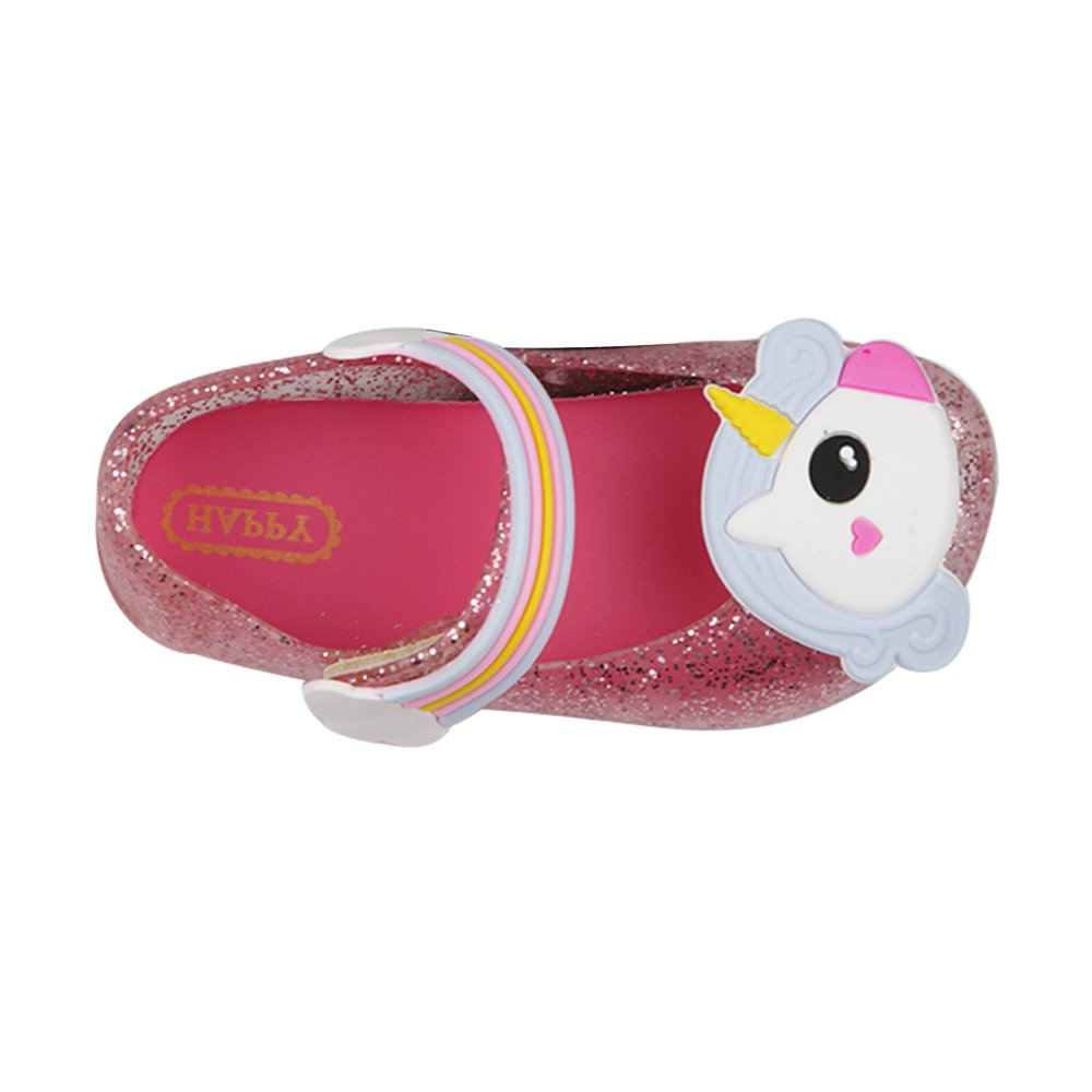 iFANS Girls Cute Unicorn Shoes Mary Jane Princess Flat for Toddler Little Kid