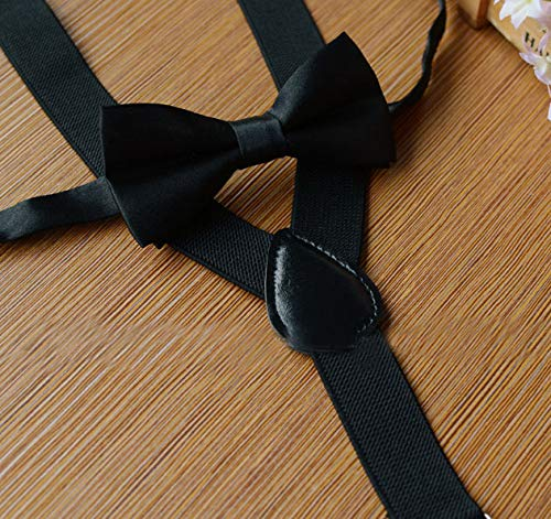 1 Set beige Unisexe R/églable Enfants Pr/é-Nou/é Noeud Papillon Jarretelles Suspendues Pantalon Jupes Pince Kit De Mariage Partie Holiday Dressup Propri/ét/és pour 1-10 Ans Enfants