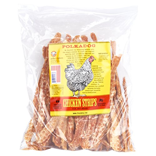 - Polka Dog Bakery Chicken Strip Jerky Dog Treat, 2-Pound