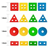 Lewo Wooden Puzzle Shapes Sorter Stacking Games