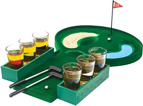 Home Essentials & Beyond Funville Golf Shot Glass Set, Clear ()
