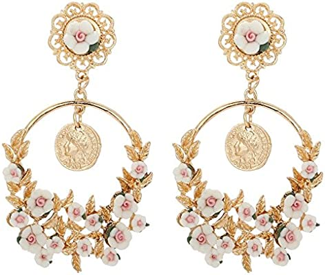 bdee43b3c Light Weight & Long Party Wear Indian Jhumka Earrings (Bali Bohemia Drop  Dangle) Bollywood Style Trendy and Vintage Jewelry for Wedding, Bridal  Party Wear ...