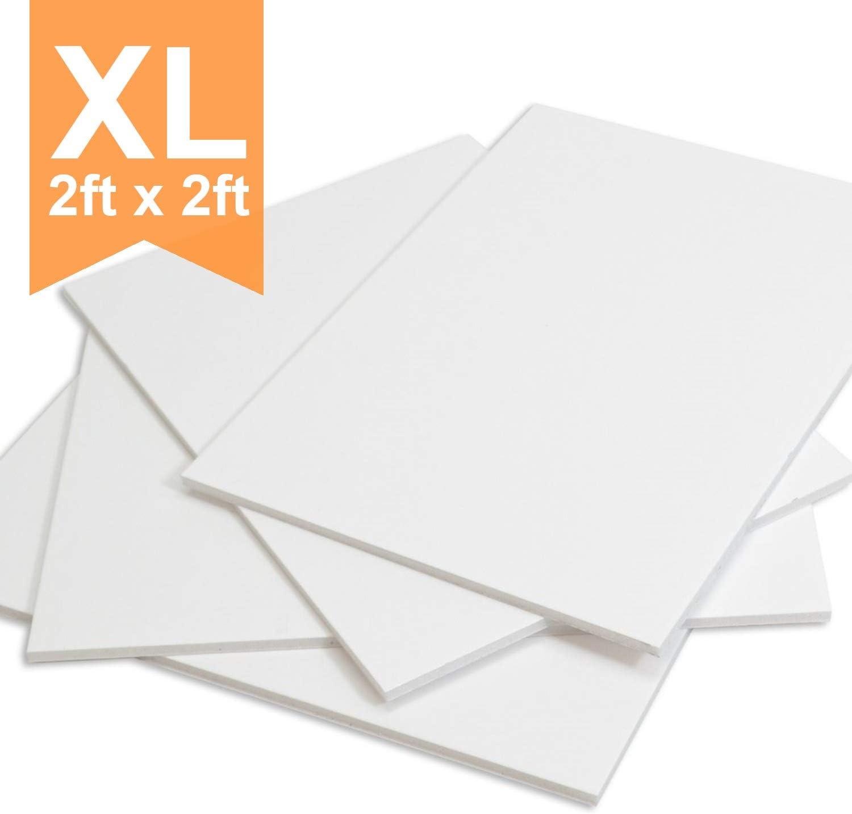 Photo Mount Sheet Modelling XL Foamex Board 2mm 1 Sheet 600 x 600 mm 2ft x 2ft PVC Foam Sign Display Board