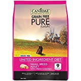 CANIDAE Grain Free Pure Fields Small Breed Adult Dog Dry Formula with Fresh Chicken, 4 lbs