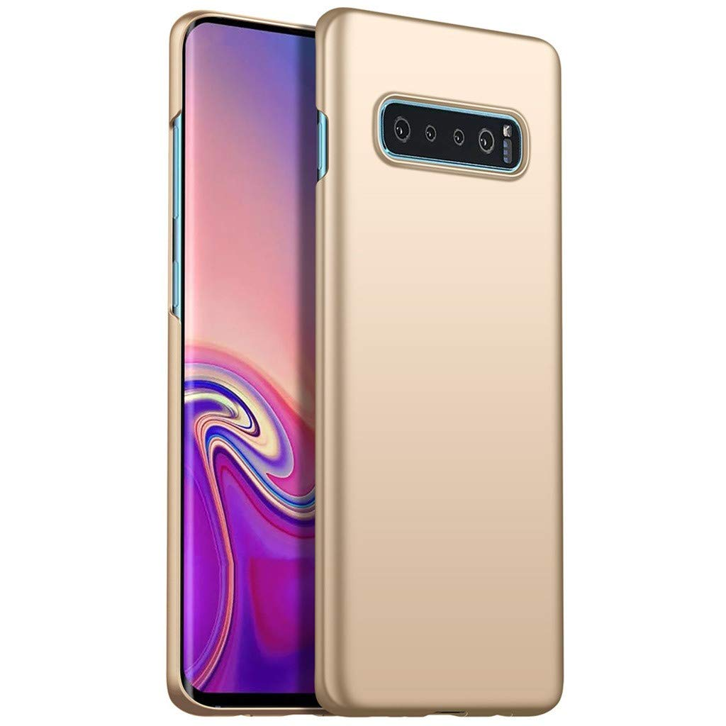 Waterproof-Case-with-Built- Screen-Protector,Ultra-thin-Luxury-Hard-PC-Protective-Case-Cover-For-Samsung-Galaxy -S10-6.0inch, (Gold)