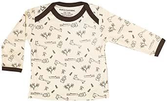 Maple Clothing Organic Cotton Baby Long Sleeve T-Shirt GOTS Certified (Giraffe, 0-3m)
