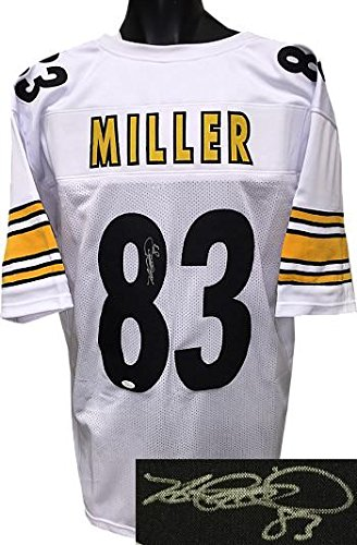 best sneakers b39e8 7c920 Signed Heath Miller Jersey - White Custom Stitched Pro Style ...
