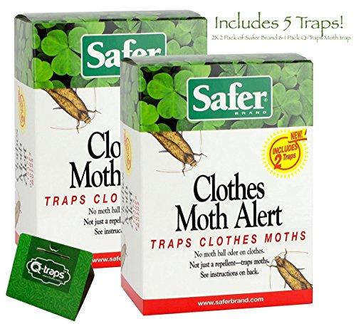 Pantry Moth Control - MOTH CONTROL COMBO - Safer Brand 05140 The Pantry Pest Trap (2 pack of 2) & Single Moth Trap Made by Q-Traps