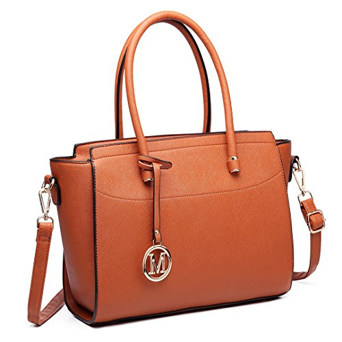 Nero Miss a Borse Fashion Women 6627 Handbag Lulu mano 6627 Marrone tracolla grande a qwPRq6n8