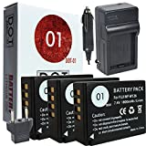 DOT-01 3X Brand Fujifilm X-H1 Batteries for Fujifilm X-H1 Mirrorless and Fujifilm X-H1 Battery Bundle for Fujifilm NPW126 NP-W126