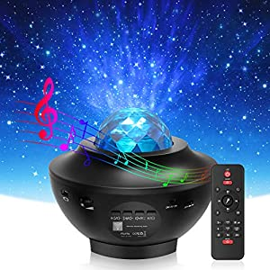 Night Light, Torjim 2 in 1 Ocean Wave Night Light Projector