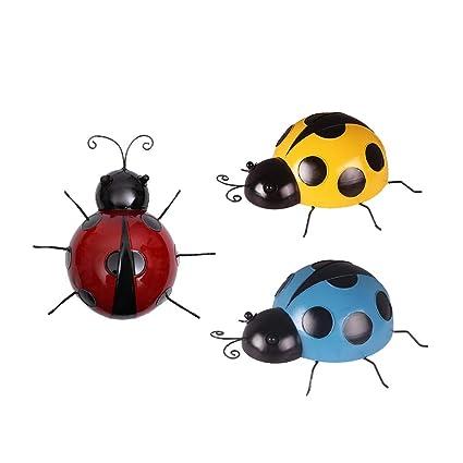 Amazon.es: B Blesiya 3 Unids Mini Metal Ladybug Valla ...