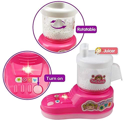 Little Crafts Battery Operated Kitchen and Household appliances for Pretend Play for Girls Birthday Gifts (Mixer app)-Pink 51QpeOKW2aL India 2021
