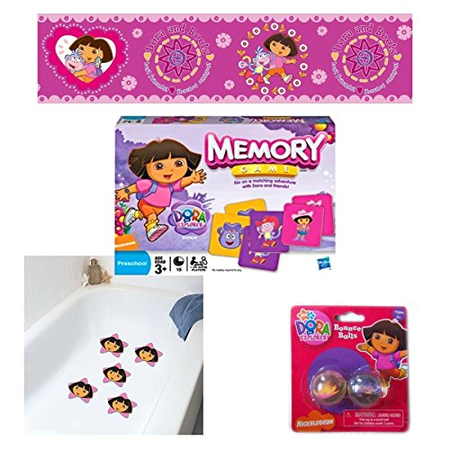 Nickelodeon Dora The Explorer Toys and Home Decor Girls Gift Bundle Ages 3+ [4 Piece] - Ginsey Dora