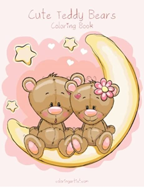 - Cute Teddy Bears Coloring Book 1 (Volume 1): Snels, Nick: 9781530941841:  Amazon.com: Books