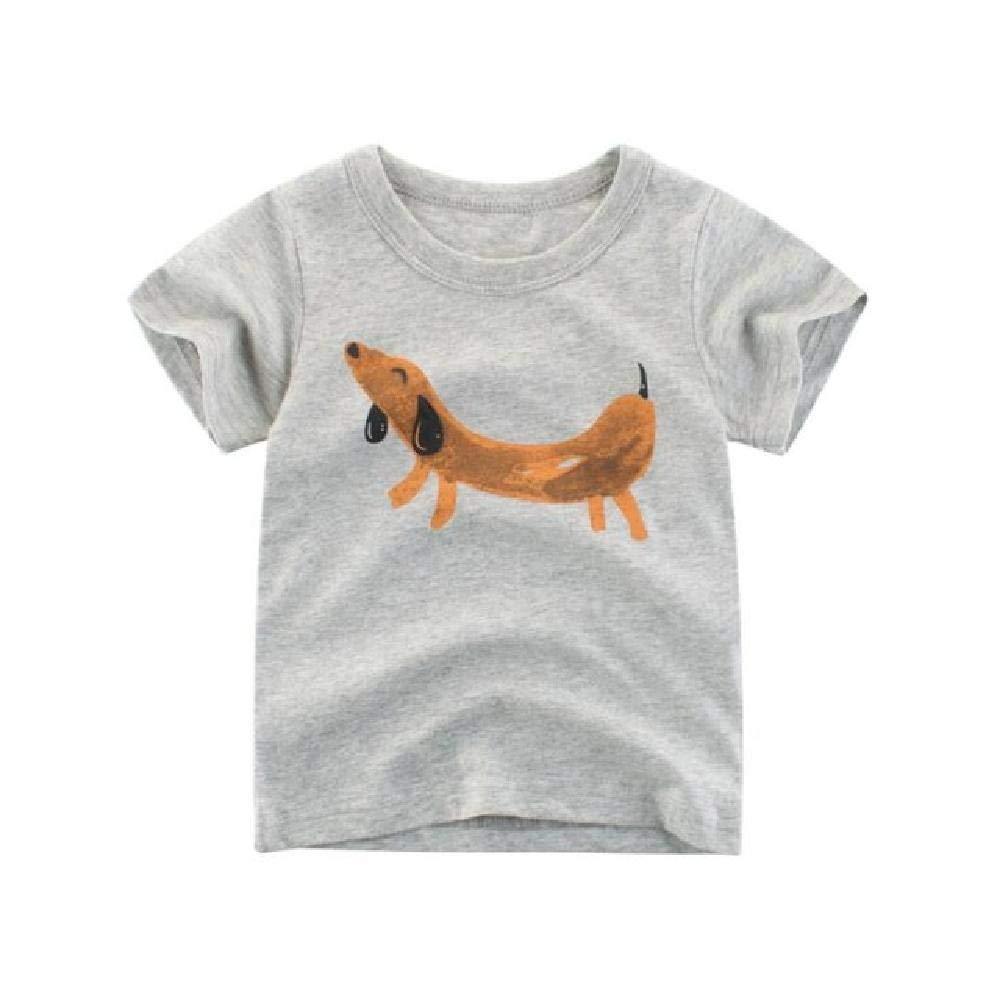 NOBRAND 2-10 años Niños Niños Niños Camiseta Algodón Dibujos ...